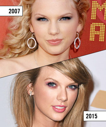 taylor swift 16 best celebrity eyebrow transformations of