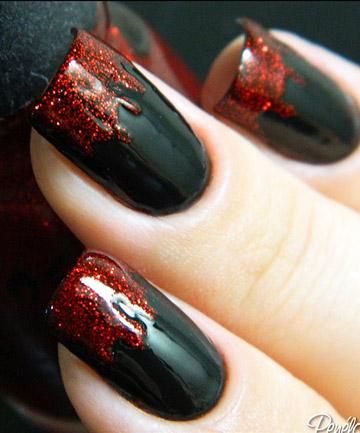 vampire nails 19 amazing diy halloween nail art ideas