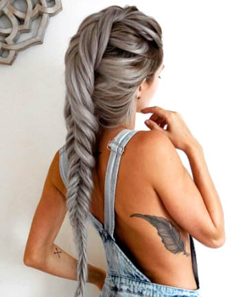 Silver Fishtail 17 Silver Hair Looks That Will Make You