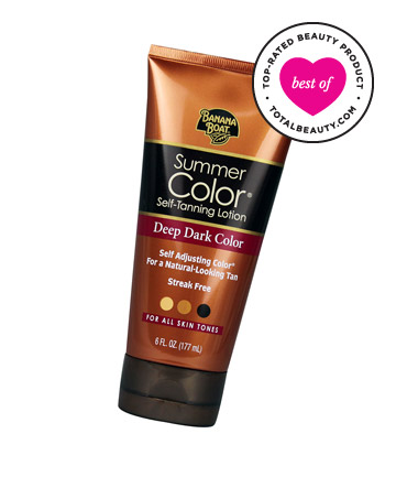 Best Drugstore Beauty Product No. 24: Banana Boat Summer Color Self-Tanning Lotion Deep Dark Color, $6.99