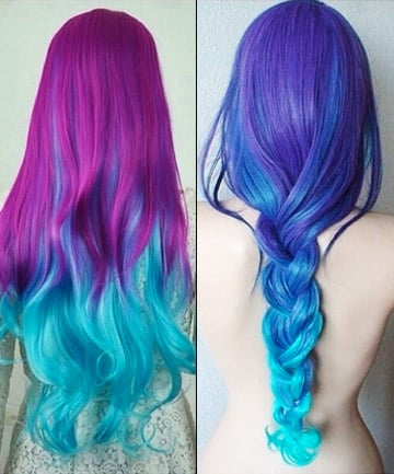 Cosmic Ombr 233 17 Galaxy Hair Ideas That Bend The Space