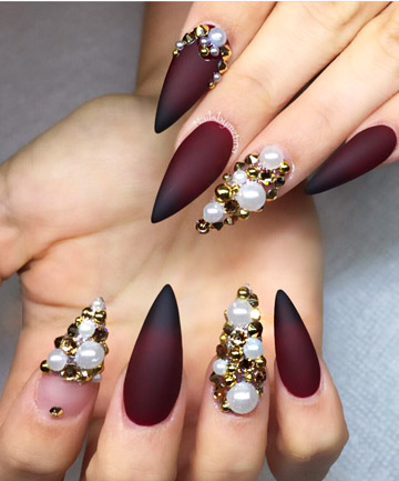 Pearl jam 27 stiletto nails that will take your manicure to the pearl jam if flashy rhinestones arent your thing try decorating your stiletto nails with pretty pearls the tiny gems add a three dimensional look to any prinsesfo Gallery