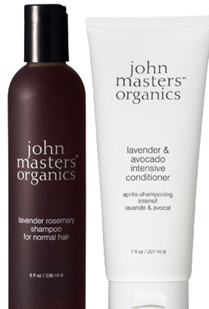 John Masters Organics Rosemary Lavendar Shampoo and Lavender and Avocado Intensive Conditioner
