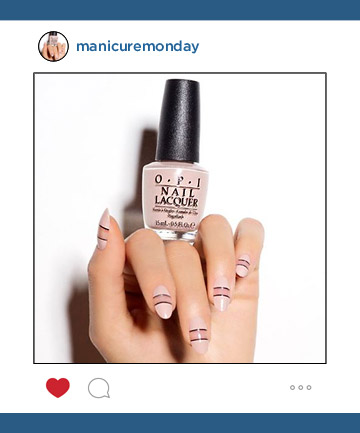 Mani of the Week: Steph Stone's Pop of Pink