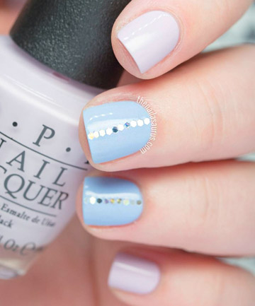 Glitter stripe pastel