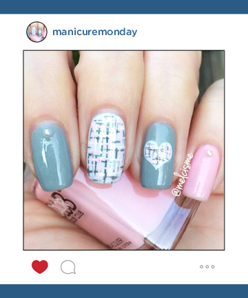 Mani Of The Week Tweed Pastel Nails Manicuremonday The Best Nail