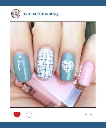 Mani of the Week: Tweed Pastel Nails