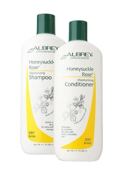 Aubrey Organics Honeysuckle Rose Moisturizing Shampoo and Conditioner