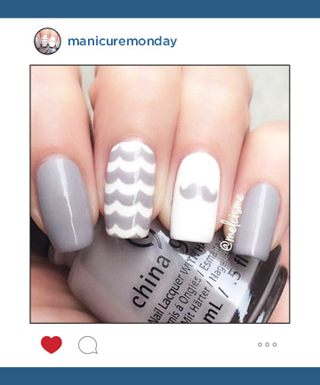 Mani of the Week: Movember Manicure