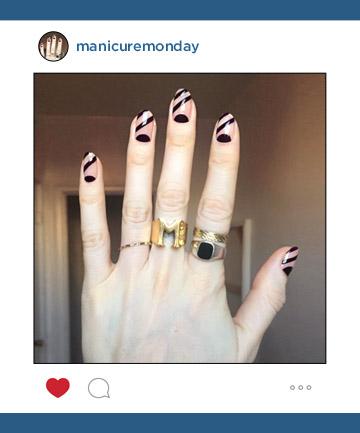 Mani of the Week: Half Moon Nails