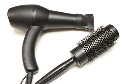 Blow drying your hair -- coarse or curly hair