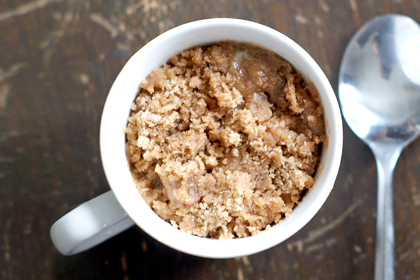 Dessert: Coffee Cake in a Mug