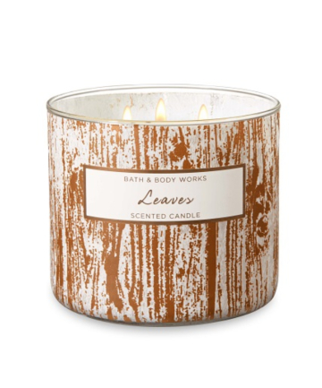 Bath & Body Works Leaves 3-Wick Candle, $24.50