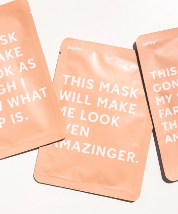 Go-To Transformazing Sheet Mask, $45 for 6