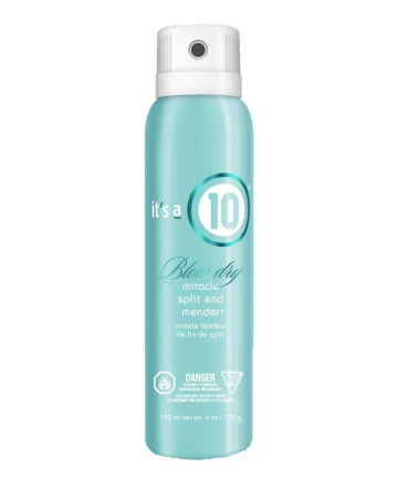 It's a 10 Miracle Blow Dry Split End Mender, $22.99