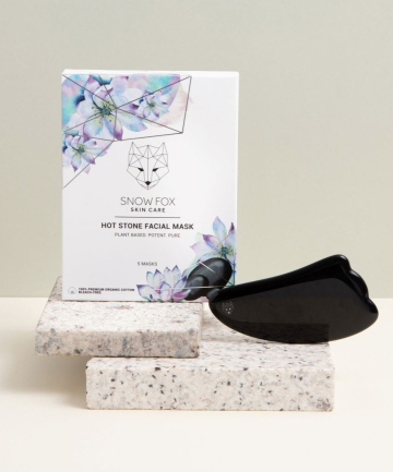Snow Fox Hot Stone Facial Mask + Obsidian Gua Sha Set, $53.60