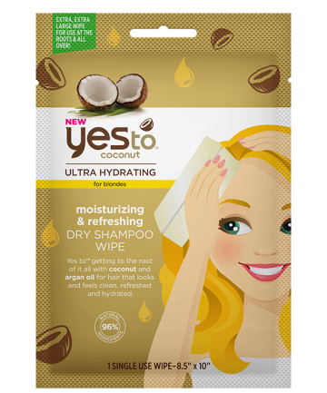 Yes to Coconut Moisturizing & Refreshing Dry Shampoo Wipe, $3.99