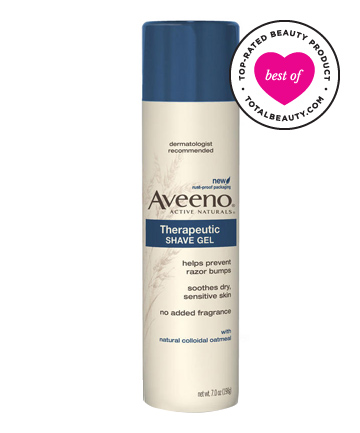 Best Hair Removal Product No. 6: Aveeno Therapeutic Shave Gel, $4.20