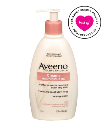No. 8: Aveeno Creamy Moisturizing Oil, $8.49