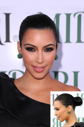 Kim Kardashian's sleek bun