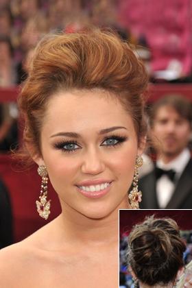 Miley Cyrus' messy bun