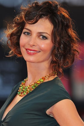 Best Curly Haircuts: Violante Placido's Wavy, Curly Hair With Bangs