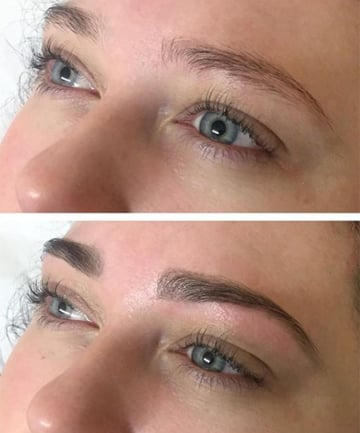Tinting your brows a shade or two darker will help enhance your natural shape