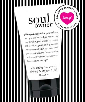 No. 8: Philosophy Soul Owner Exfoliating Foot Cream, $16