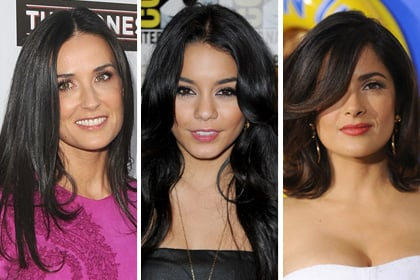 Celebs with the best raven hair: