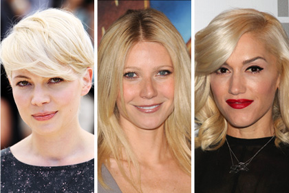 Celebs with the best platinum/solid blonde hair: