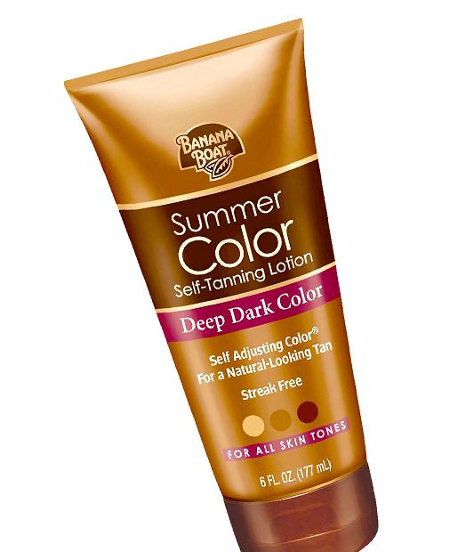No. 20: Banana Boat Summer Color Self-Tanning Lotion Deep Dark Color, $6.79