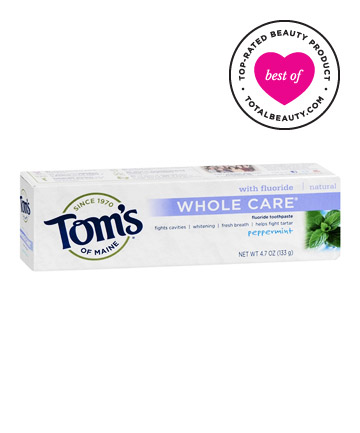 Best Toothpaste No. 4: Tom's of Maine Natural Whole Care Fluoride Toothpaste, $4.99