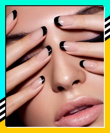 Fresh Black Tips 21 Nail Designs That Make The French Manicure Cool