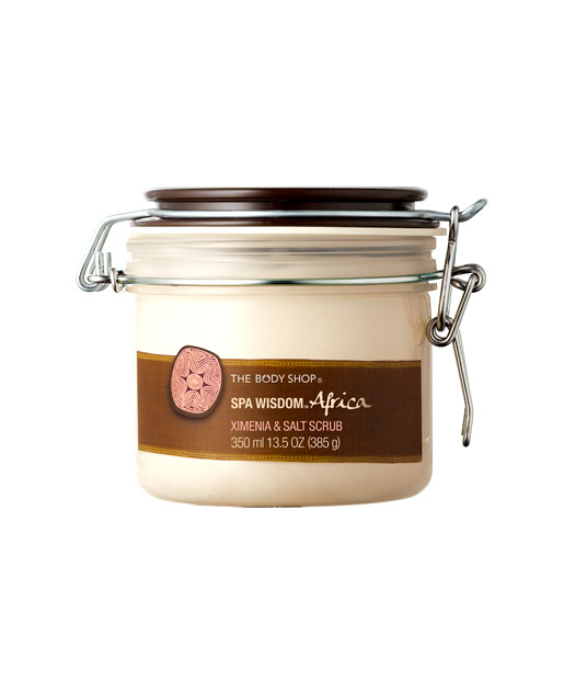 No. 5: The Body Shop Spa Wisdom Africa Ximenia Salt Scrub, $28