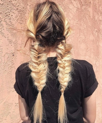 Messy Braided Pigtails