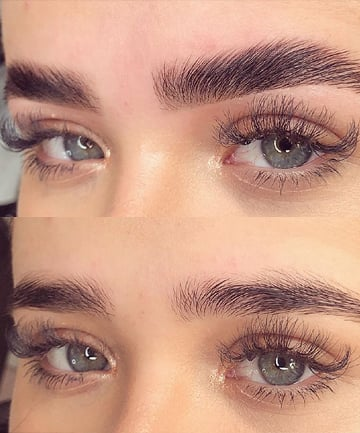 Brow Lamination Over Microblading