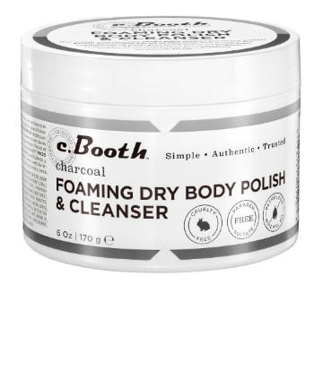 Best Body Scrub No. 17: C. Booth Charcoal Foaming Dry Body Polish & Cleanser, $8.99