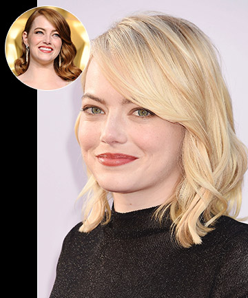 Emma Stone's Blonde Lob