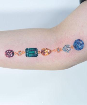 The 21 Prettiest Gemstone Tattoo Ideas Ever