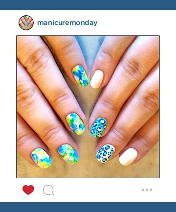 Mani of the Week: Chalkboard Nails' Mismatched Pastels