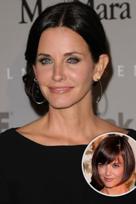 The target: Courteney Cox