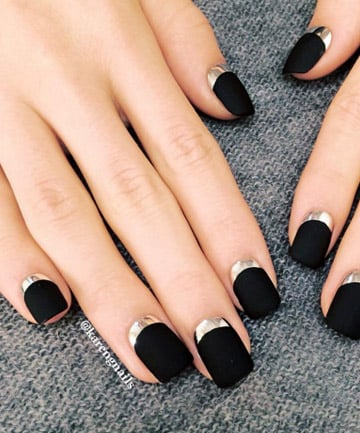 Black matte nails 27 cute nail designs you need to copy black matte nails prinsesfo Images