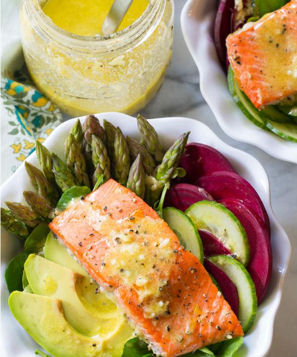 Roasted Salmon Detox Salad