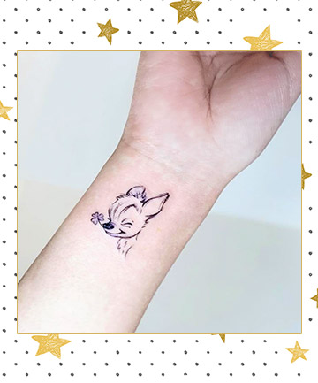 804ef9858 Bambi With a Clover Tattoo, 17 Disney Tattoos That'll Take You Back ...
