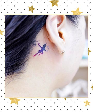 Starry Peter Pan Tattoo, 17 Disney Tattoos That\'ll Take You Back to ...