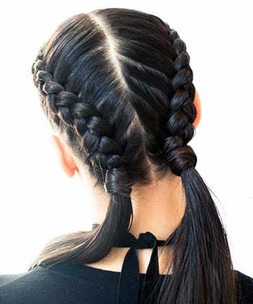"double french braids for ""it"" girls everywhere 25 pretty"