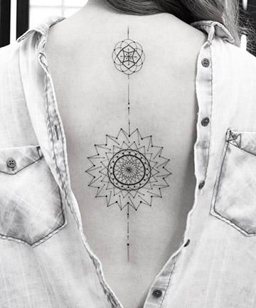71874f296 Deconstructed Double Mandalas, 17 Mandala Tattoos That Bring Out ...