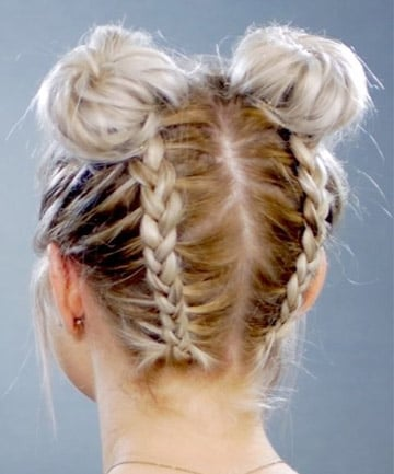 Double Braided Space Buns 11 Surprisingly Easy Braids For Short