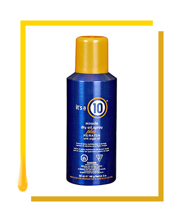 It's a 10 Miracle Dry Oil Spray Plus Keratin, $13