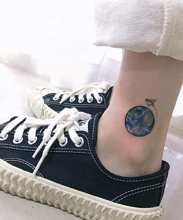Planet Earth Tattoo Designs